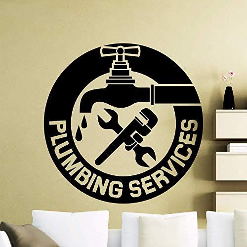 Servicio de reparación de grifos tatuajes de pared habitación para niños dormitorio sala de estar decoración de la pared adorno pegatinas de pared vinilo superior 57X57 cm