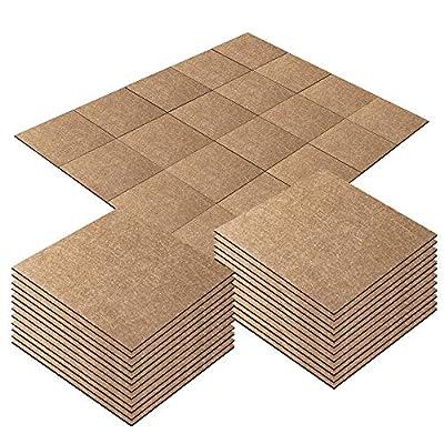 New Version Carpet Floor Tiles 10x10 inch 20pcs DIY Self Adhesive Soft Protect Floor no Slip Moisture-Proof Commercial Home Carpet Tile 25X25CM Carpet Squares (1212)