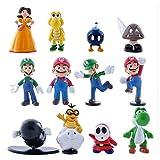 Super Mario Bros Super Mary Princess-Turtle-Mushroom-Orangutan-Super Mary Action Figures, 2' (12 Pcs)