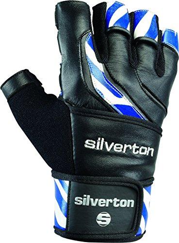 Silverton Erwachsene Handschuhe Power Stripes, schwarz/Blau, M