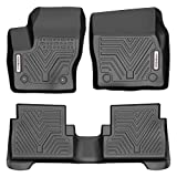 YITAMOTOR Floor Mats Compatible with Ford Escape, Custom Fit Floor Liners for 2015-2019 Ford Escape, 1st and 2nd Row All Weather Protection, Black