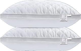 Vinnykud Oreillers Pur Coton Lot de 2 Oreillers Garnissage Ajustable Coussin Moelleux Blanc,Oreilers Sommeil Confort Oreil...