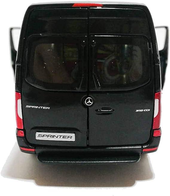 Mercedes-benz Sprinter black kinsmart toy car model 1//48 scale diecast metal new