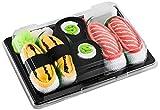Rainbow Socks - Mädchen Jungen - Sushi Socken Tamago Lachs Gurken Maki - Lustige Geschenk - 3 Paar - Größen 24-29