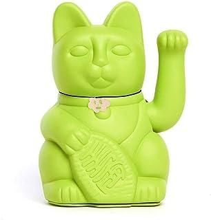 Gatto Fortunato Cinese. Gatto portofortuno. Lucky cat. Maneki Neko. COLORE VERDE CHIARO 10x6x15cm