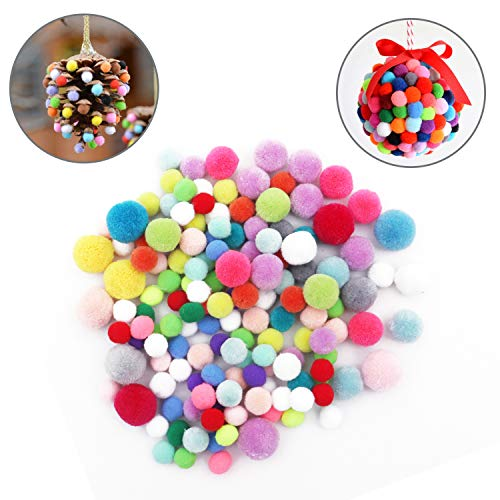 Bolas De Fieltro Pompones - Pack De 150 Piezas Bolas Colores 4 Colores Mezclados Suministros Pasatiempos Decoraciones Manualidades – Proyectos Niños – Bolitas De Colores Variados