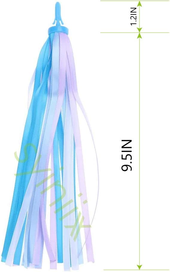 syiniix Colorful Tassel Ribbons for Kid/'s Bicycle Bike or Scooter Handlebar Streamers,1 Pair.