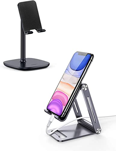 popular UGREEN Cell Phone online Stand Desk Holder online sale with Aluminum Phone Stand Bundle Compatible for iPhone 11 Pro Max SE XS XR 8 Plus 6 7, Samsung Galaxy S20 S10 S9 S8 Note 9 8 S7 S6, Google Pixel 4 XL, LG V40 V30 G7 online