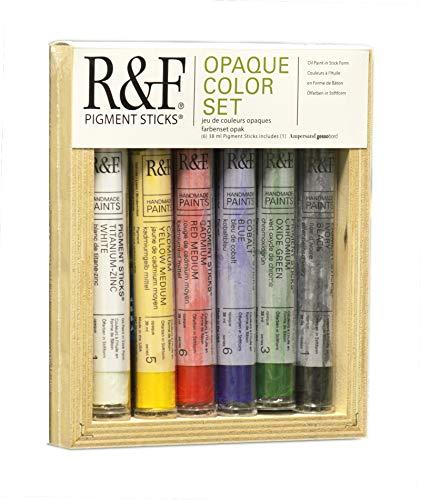 R&F Handmade Paints Pigment Sticks, Opaque Colors, Set Of 6