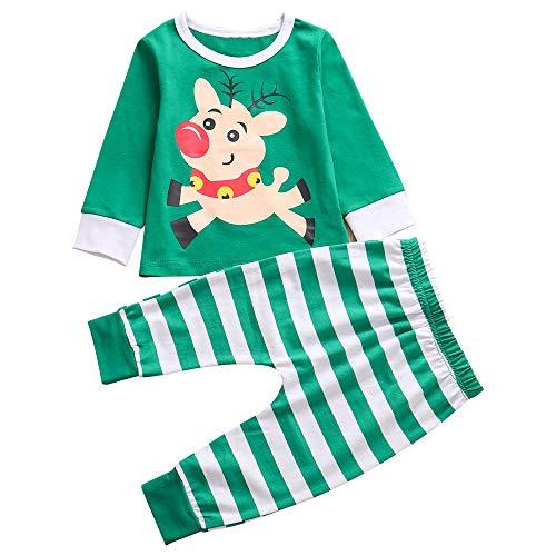 Sfuzwg Infant Baby Boy Kleidung Pullover Pullover gestreifte Elefant Floral Tops Hosen Zweiteilige Sweatshirt-Sets