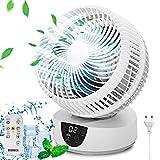 Ventilatore ultra silenzioso, ventilatore da tavolo, 25 dB, 9H timer , 4 modalità e angolo di...