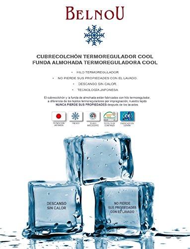 Belnou. Cubrecolchón Cool con Tejido Termoregulador Anti-Calor de Verano. (150x190 cm)