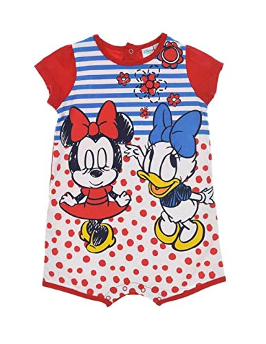 Minnie Barboteuse bébé Fille Disney et Daisy Rouge et Marine de 6 à 24mois - Blanc/Rouge, 6 Mois