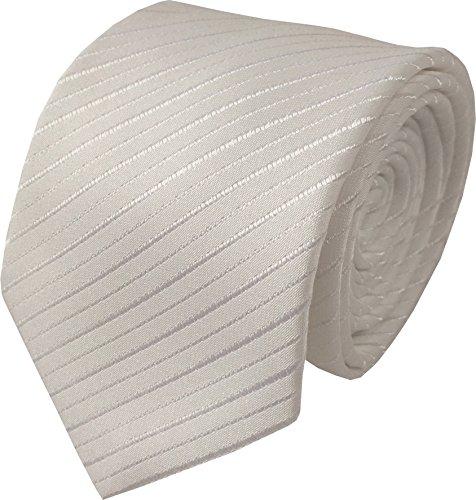 Great British Tie Club Hommes Luxe Blanc & Argent Bande Tissé Mariage Cravate