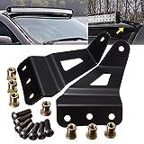 TUINCYN supporto di fissaggio barra luminosa superiore a LED per auto fuoristrada, staffa di montaggio per lampade a LED in acciaio nero solido da 127cm per pickup e SUV GM