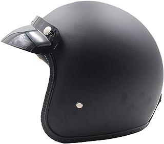 小さくてコンパクト オープンフェイスヘルメットレザーモーターサイクルヴィンテージハーフ..