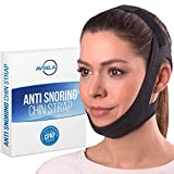 Aveela Premium Anti Snoring Chin Strap for CPAP Users - Most Effective Snoring Solution - High-End Itch-Free Comfortable Breathable Material for Uninterrupted Sleep
