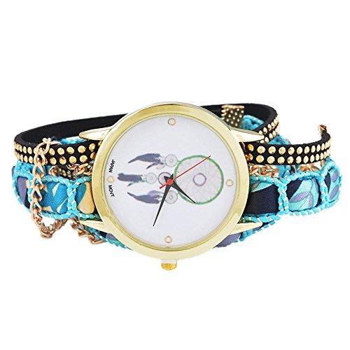 SSITG Reloj de pulsera para mujer con diseño de atrapasueños y cadena enroscable de