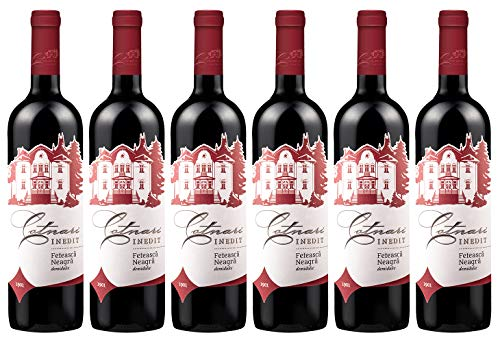Casa de Vinuri Cotnari | INEDIT Feteasca Neagra - Rotwein lieblich aus Rumänien | Weinpaket 6 x 0.75 L DOC-CMD