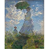 油絵KitCanvas油絵キット大人のための数字によるDIYペイント初心者-16x20インチ数絵抗ストレスおもちゃ(フレームなし)-日傘を持つ女性