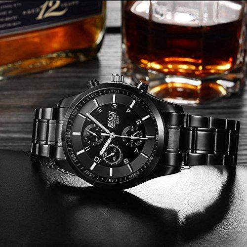 『ZDTech 腕時計 クロノグラフ デイト クォーツムーブメント 海外モデル メンズ ウォッチ (ブラック)』の2枚目の画像