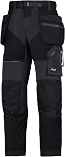 Snickers 69020404050 Work Trousers with Holster Pockets FlexiWork Size 50 in Black