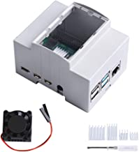 GeeekPi Case for Raspberry Pi4 on DIN Rail - Modular Box for Electrical Panels,Raspberry Pi 4 Case with Fan,Raspberry Pi H...