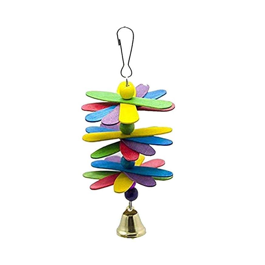 同情命題危険なオウム咬合玩具クローバーより遅い形ビーズベル鳥吊りおもちゃ