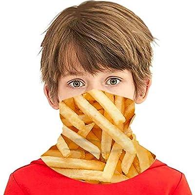 Masque d'écharpe de Visage de guêtre de Cou de Refroidissement d'été de Frites pour des Enfants Adolescents, Cagoule multifonctionnelle de Bandana