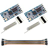 DAOKI 2Pcs SI4463 433Mhz HC-12 Serial Port Module Wireless 1000M Replace Bluetooth with Antenna