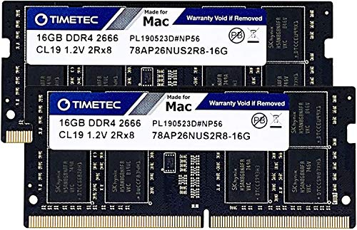 Timetec Hynix IC Compatible with Apple 16GB DDR4 2666MHz PC4-21300 SODIMM Memory Upgrade for Mac Mini 8,1 Late 2018 and iMac 19,1 w/Retina 5K 27-inch Early 2019 (32GB(16GBx2))