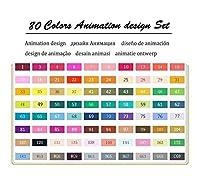 XFHA カラーアートマーカーセットのデュアルスケッチベースのマーカー 必需品を描く (Color : 80 Animation Set)