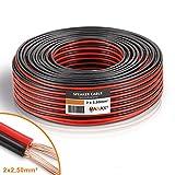 Manax - Cable para Altavoz CCA (2 x 2,5 mm2, 25 m),...