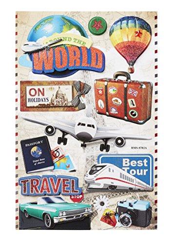 Sticker Reise II, Bogen 11x 17 cm