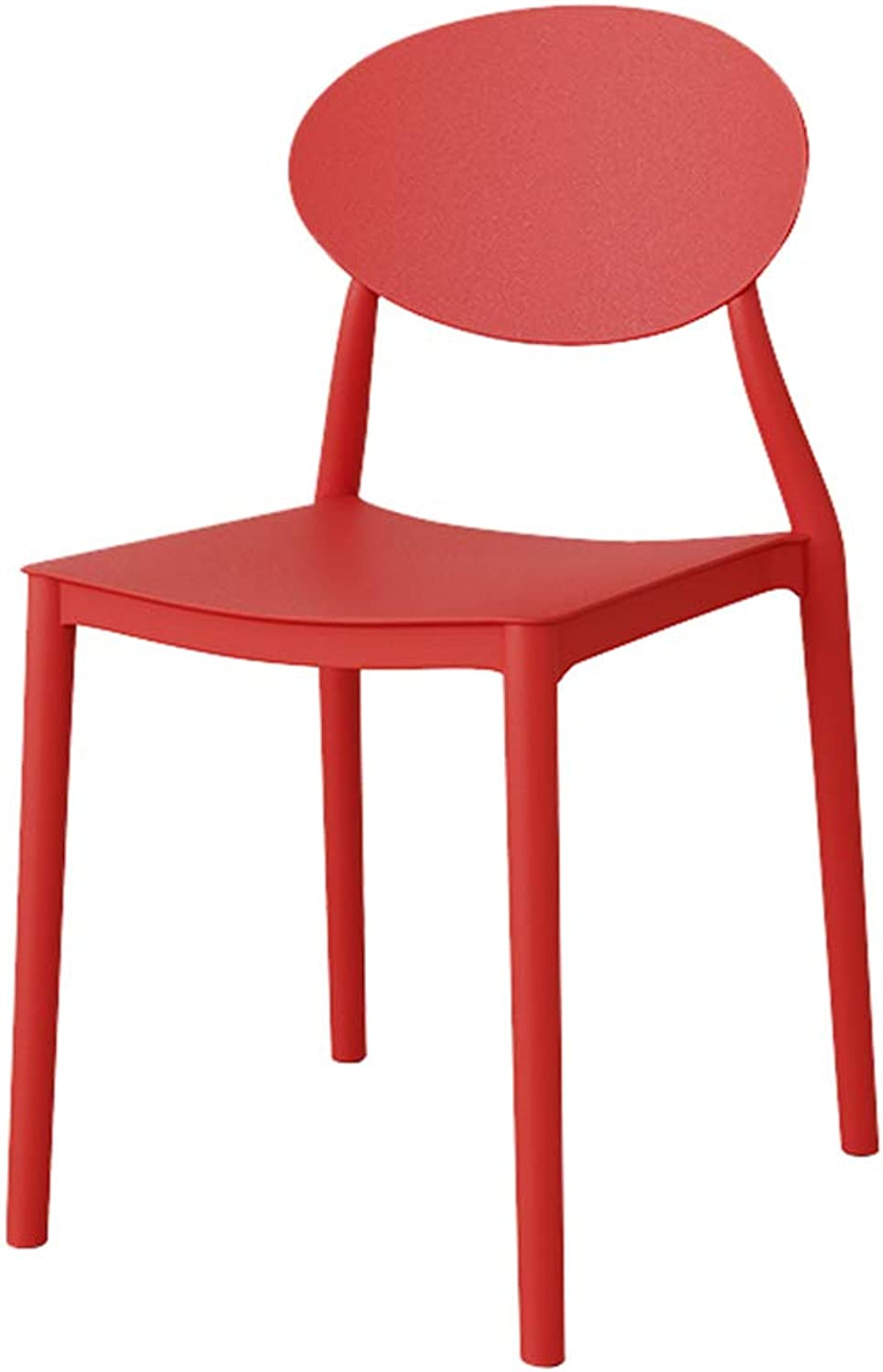 MING REN Modern Minimalist Adult Stool Plastic Back Dressing Table Makeup Chair - Multi-color Optional (Size  44X42X82 cm) (color   RED)
