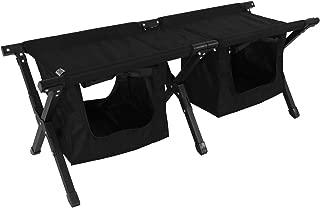 DOD 2人坐 户外 长椅 行李 可以整理 大容量 带收纳 FS2-246-BK