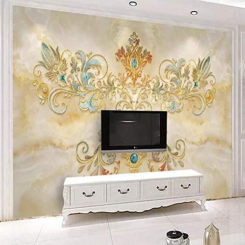 Papel pintado 3D con patrón europeo moderno de mármol, tela de pared para sala de estar, dormitorio, televisión, fondo de pared, decoración 3D, 200 x 140 cm