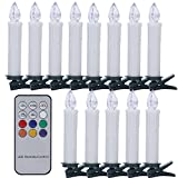 SANVA 10/20/30/40 Stück RGB LED Kerzen [Upgrade...