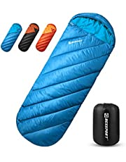 Bessport Śpiwór 3-4 pory roku zimowy lekki i wodoodporny śpiwór dla dzieci i dorosłych odpowiedni na kemping piesze wycieczki i inne aktywności na świeżym powietrzu