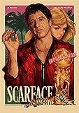 pgjremd Gangster Film Scarface Retro Leinwand Kunst