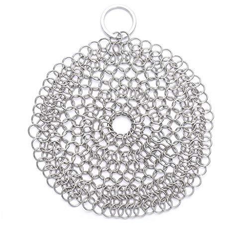 Acciaio inox 316 sfera d'acciaio di lavaggio pentola anello di metallo palla pulizia netta pulizia netta cucina pennello pennello piatto net pot artefatto forniture da cucina di stile multipla,8*8in