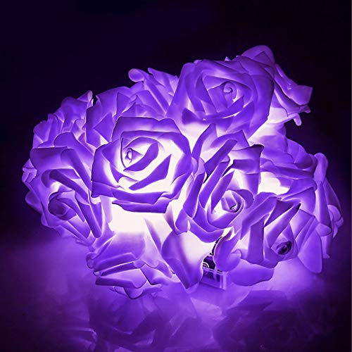 2M 20 LED Battery Operated Rose Flower Fairy String...