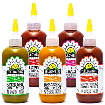 Hot Sauce Variety Pack by Yellowbird   Plant-Based Gluten Free Non-GMO   Homegrown in Austin   9.8 oz  5-Pack