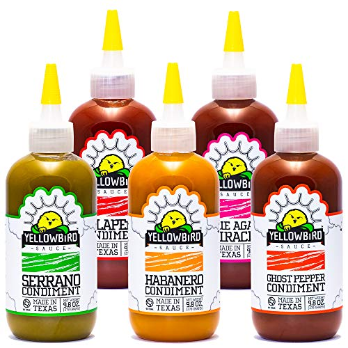 Hot Sauce Variety Pack by Yellowbird | Plant-Based, Gluten Free, Non-GMO | Homegrown in Austin | 9.8...