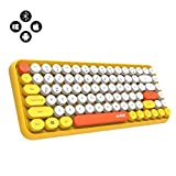 NACODEX 308I Wireless Bluetooth Keyboard, Compact 84 Keys Retro Round Keycaps Mini Keyboard, Portable Computer...