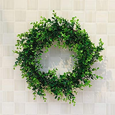 Easter Decorations, Artificial Green Plant Wreath Simulation Green Plant Garland Home Office Decor,Home Decoration Sales!!!