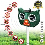 MOHOO Repulsif Chat Ultrason Solaire Chat Repulsif Chat Exterieur Ultrason Chat Animaux Nuisibles 5...