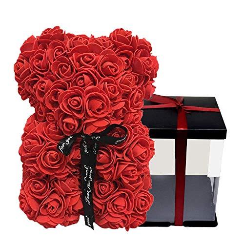 BerryChips Oso De Rosas Flor Artificial para Niños Flor Eterna Decora
