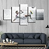 5 Stück Leinwand Fußball Fußball Sport Messi Gemälde Modulare Bilder Fußball Team Player Dropshipping Modular Leinwand Poster(size 1)