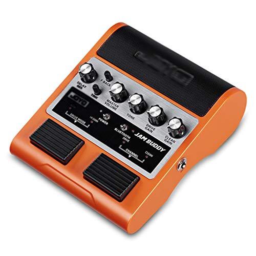 Zyj Amplificador de Altavoz de Guitarra eléctrica estéreo Bluetooth Recargable Amplificador de Altavoz de Bluetooth Rendimiento de Guitarra (Color : Orange)